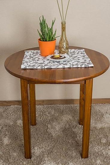 Tisch 80x80 cm Kiefer massiv, Farbe: Eiche