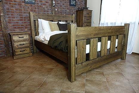 Einzelbett / Gästebett 31 massiv braun - Abmessung: 140 x 200 cm
