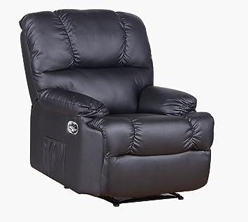Fernsehsessel von MACO Relaxsessel / TV Sessel in Kunstleder schwarz