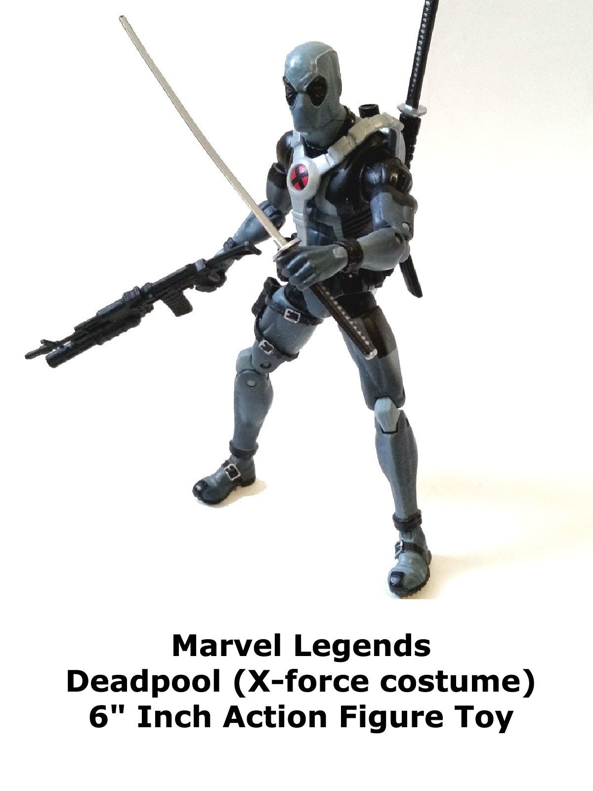 "Review: Marvel Legends Deadpool (X-force costume) 6"" Inch Action Figure Toy"