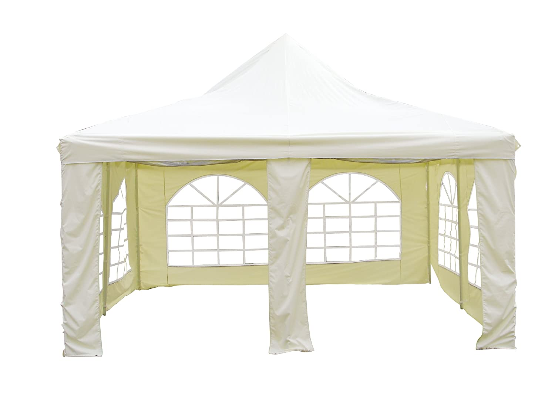 L.A. Garden Pavillon Pagode Deluxe, beige, 400 x 400 x 340 cm, 86010 günstig kaufen