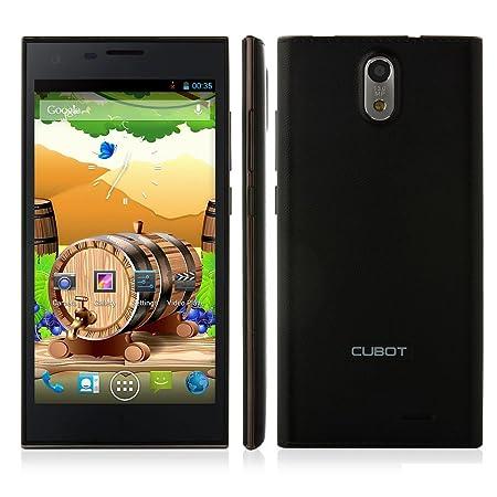 TONBUX® Cubot S308 5.0 pouces HD écran (1280*720) Tactile SmartPhone débloqué 3G Google Android 4.2 MTK6582 Quad Core Dual Caméra Dual SIM 2GB / 16GB (Noir)