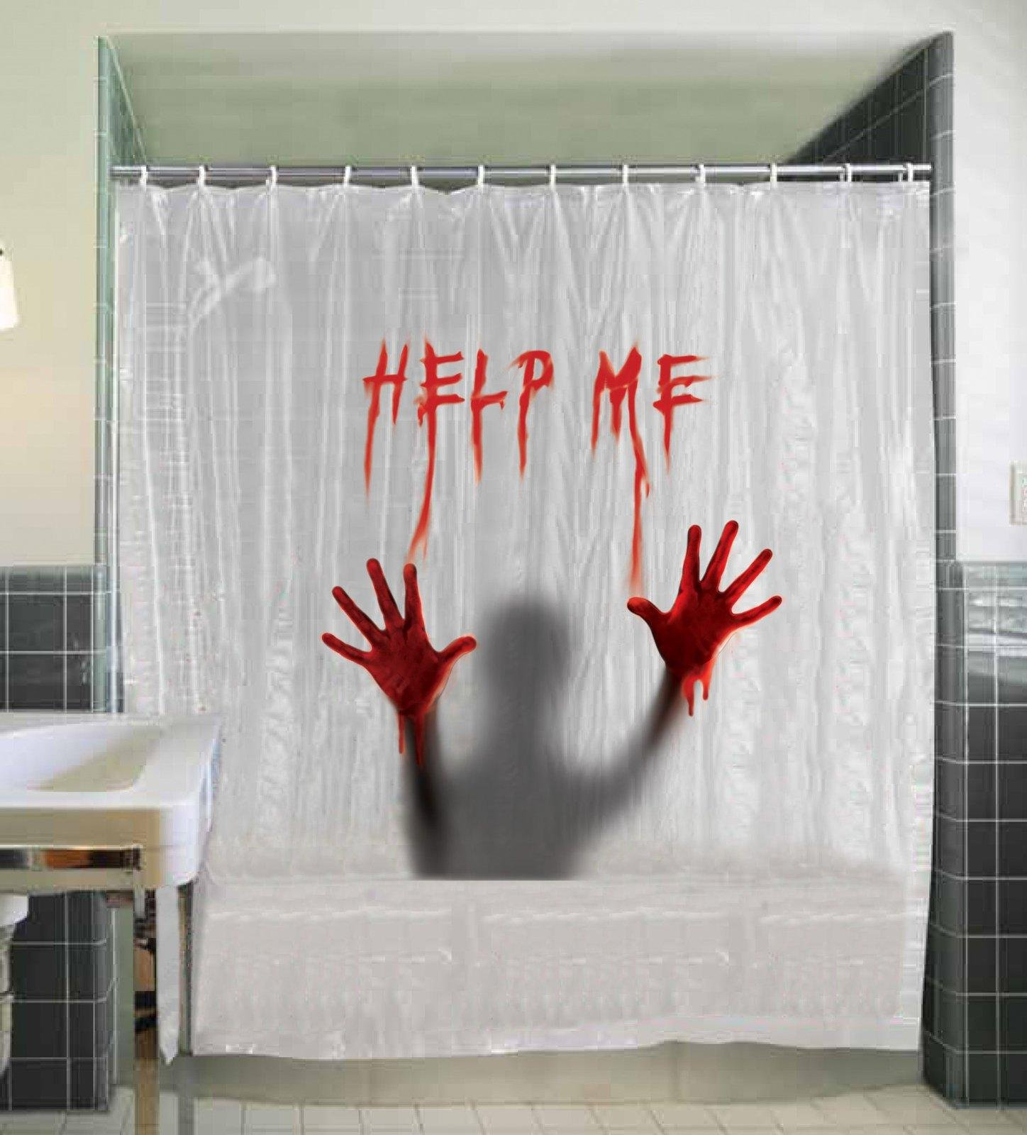 Attractive Geeky Shower Curtains For The Horror Movie Critic