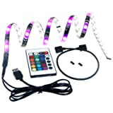 TedGem USB LED Light Strip with tape, TV Backlighting, Bias Lighting for HDTV USB LED Strip with Remote Control
