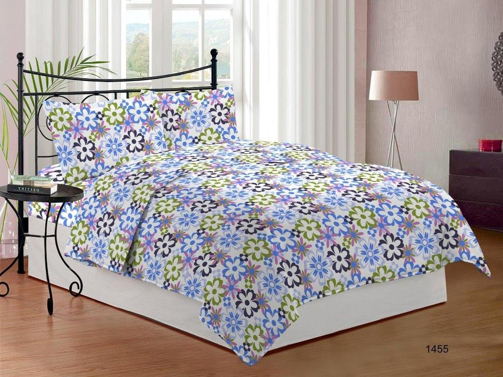 Bombay Dyeing Cynthia Polycotton Double Bedsheet with 2 Pillow Covers – Blue at Rs.399 – Shop Online at Amazon.in