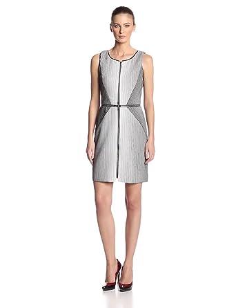 Yoana Baraschi Women's Ombre Tennis Stripe Column Dress, White/Black, 0