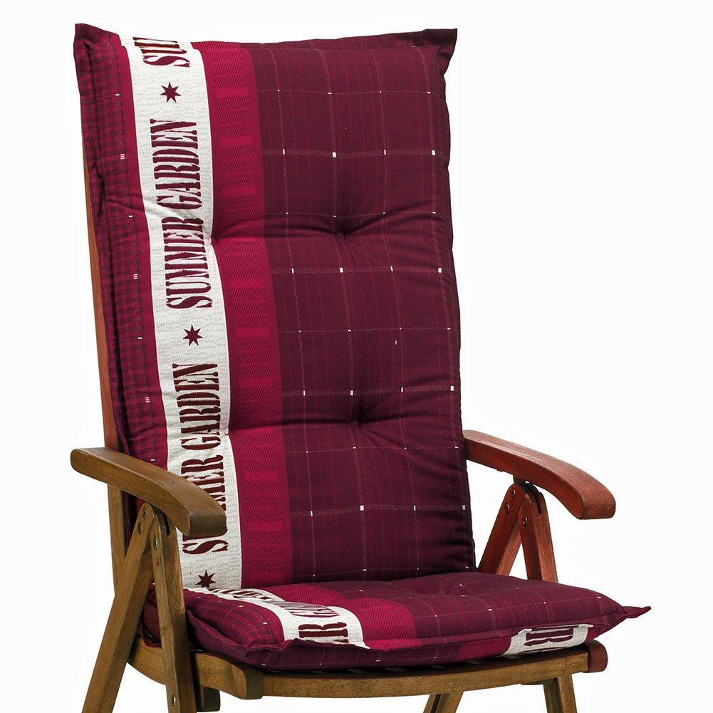 6 Gartenmöbel Auflagen für Hochlehner Sun Garden Prato 40247-300 in rot