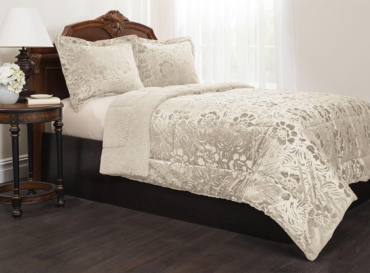Sherpa Quilted Fleece Comforter Set