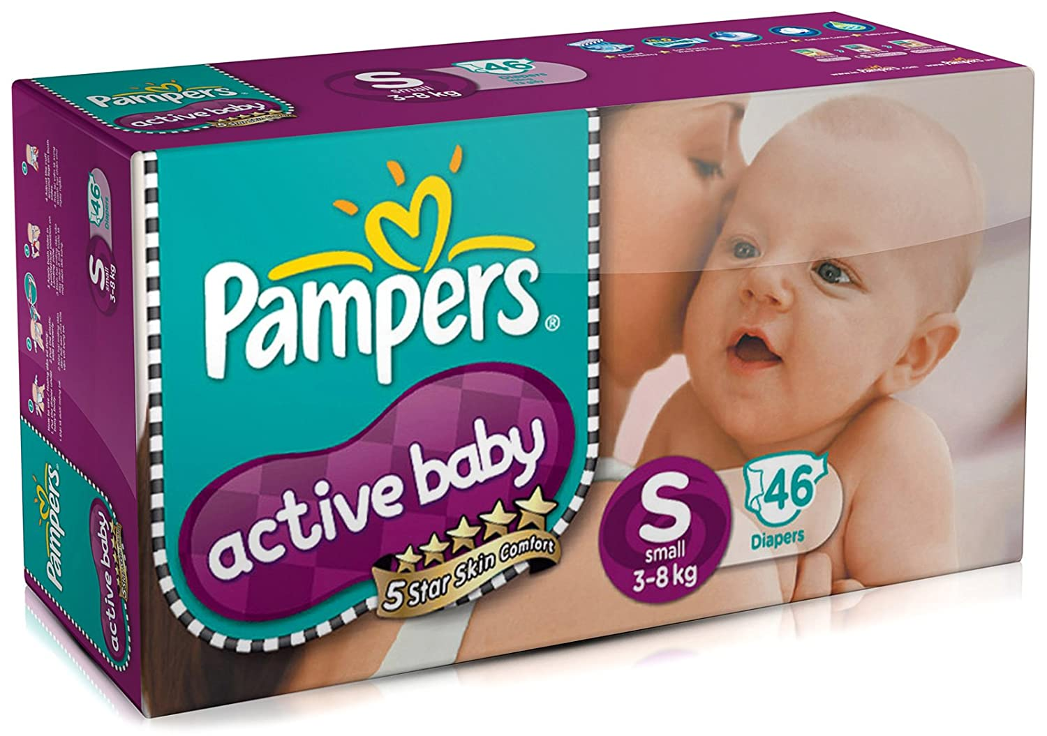 46 Count Pampers Active Diapers Small Size at Rs 419