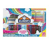 Elmer's Rainbow Glitter Glue Pen Set, Assorted Colors, 0.356 Ounces Each, 31 Count - Great For Making Slime (Color: Rainbow Glitter, Tamaño: 31 Count)
