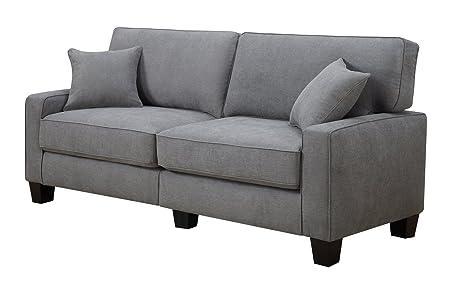 Serta Kona Collection Sofa, 73-Inch, Gray