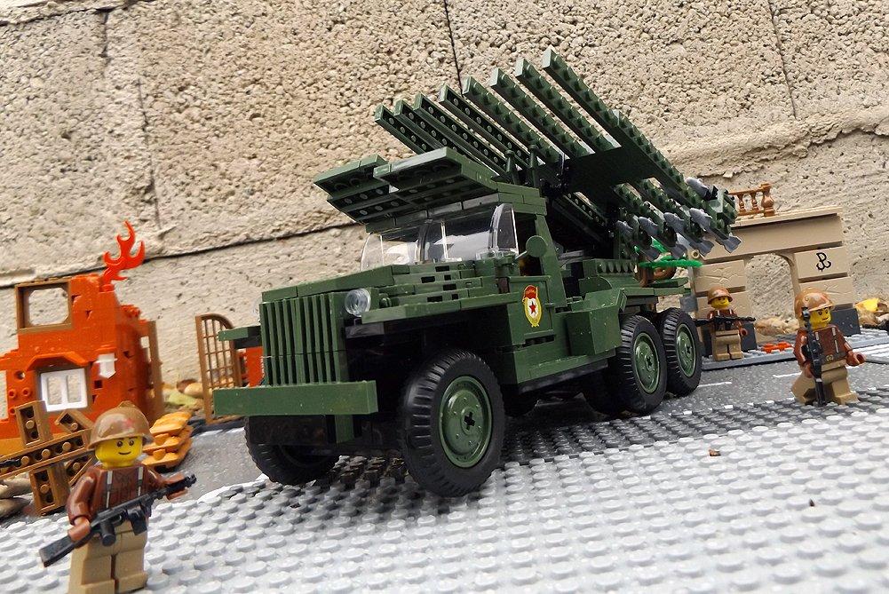 Modbrix 2448 – ☭ Rote Armee KATJUSCHA BM-13N Raketenwerfer, Stalinorgel inkl. custom Sowjetische Soldaten aus original Lego© Teilen ☭ online bestellen