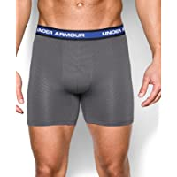 2-Pack Under Armour Mesh Performance Boxerjock Mens Underwear (Black/Graphite)