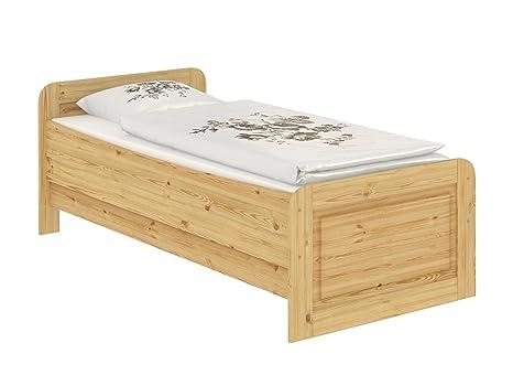 60.42-09 MR Seniorenbett Massivholz 90 x 200 cm, extra hohes Bett, mit Matratze u Lattenrollrost