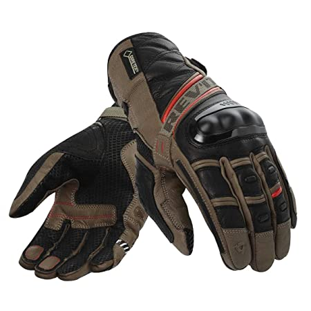 REV IT - Gants Dominator Goretex Marron-Rouge