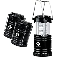 3-Pack Etekcity Portable Outdoor LED Camping Lantern with 9 AA Batteries