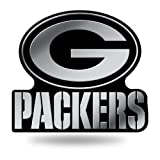 Rico Industries NFL Green Bay Packers Chrome Finished Auto Emblem 3D Sticker (Color: Silver, Tamaño: 3.75