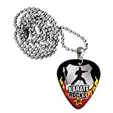 Karate Rocks Guitar Pick Necklace Plectrum Chain (R1)