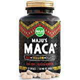 Maca Capsules, Strong Red, Yellow & Black Organic Root Powder w/Black Pepper Extract for Absorption, Grown in Peru, Men & Women Supplement (1000mg) (Tamaño: 120g)