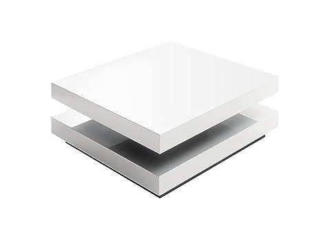 Mesa de centro Hugo - placa superior giratorio - dimensiones B/H/T: aprox 75 x 30 cm