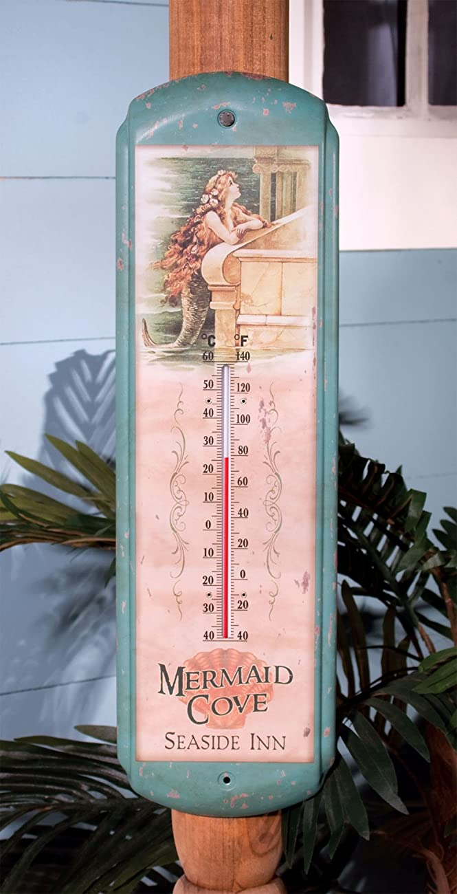 Ohio Wholesale Vintage Mermaid Thermometer, from our Water Collection 1