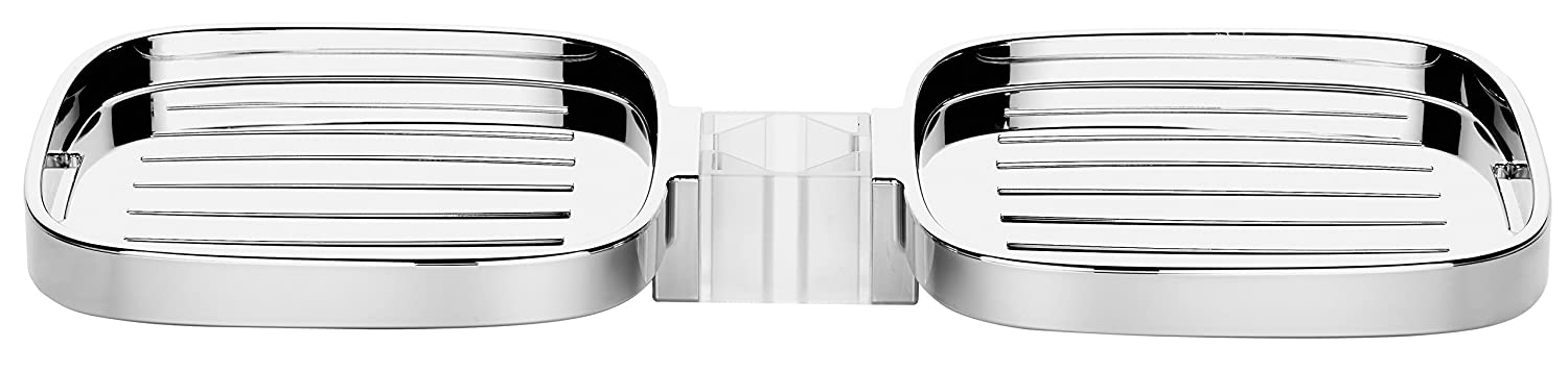 hansgrohe porte savon pour barre de douche casetta cube chrome ebay. Black Bedroom Furniture Sets. Home Design Ideas