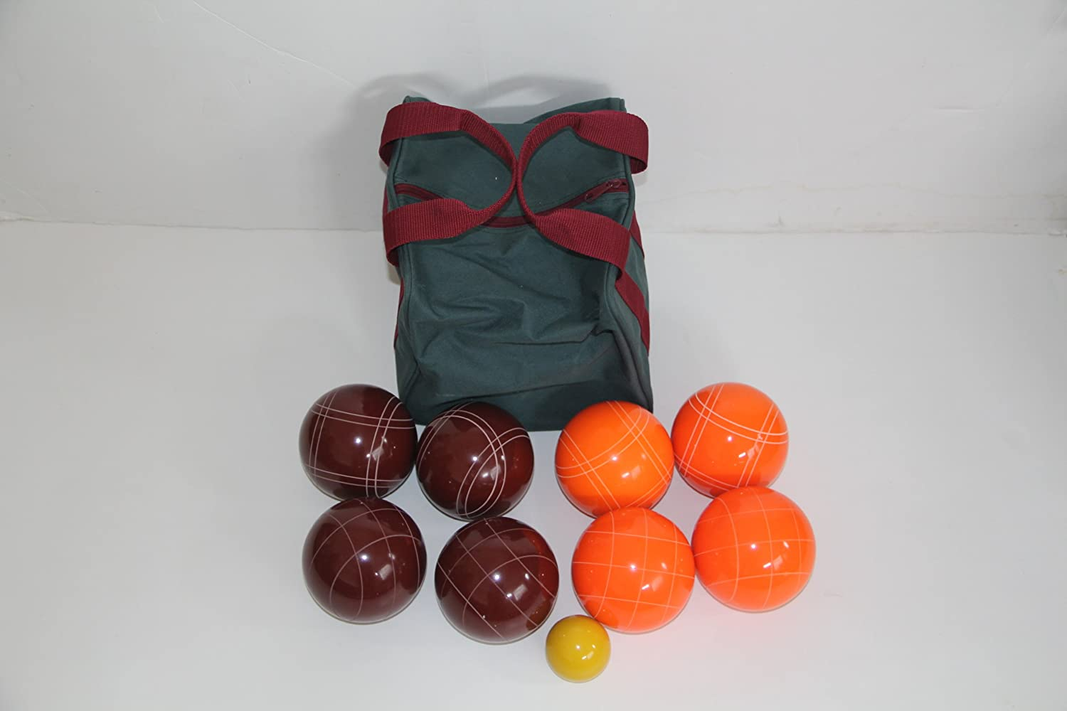 Premium Quality EPCO Tournament Bocce Set - 107mm Red and Orange Bocce Balls ...