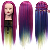 Cool2day Colorful Mannequin Head Hairstyles Hairdressing Doll Heads Hairdresser Manik Synthetic Hair Training Head