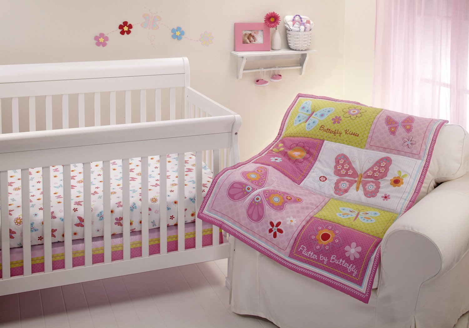Nojo Butterfly Kisses Crib Bedding
