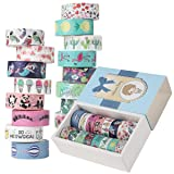 filear 16 Rolls Washi Tape Set, Colored Masking Tape Stickers Decorative Tapes Craft 15mm Wide Collection Art Supply for Scrapbook,Bullet Journal,Teaching aid,Planner DIY Decor (Animals & Plants) (Color: Animals & Plants)