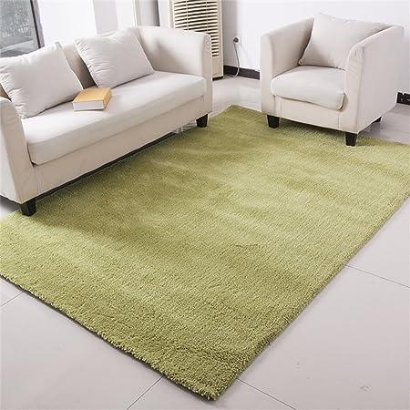 Mesa de centro de salón de estilo europeo Alfombra / Alfombra de cabecera de alfombra, Alfombrilla superabsorbente de alta densidad, Verde ( Tamaño : 1.6*2.3m )