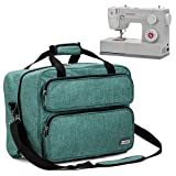 HOMEST Sewing Machine Carrying Case, Universal Tote Bag with Shoulder Strap Compatible with Most Standard Singer, Brother, Janome (Green) (Color: Green)