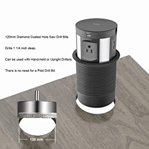 Automatic Pop Up Sockets,Hidden Recessed Power Strip Surge Protector,Pop Up Power Outlet,with Wireless Charger,USB Charging Ports, AC Outlets,RJ45 Cat6 Data Port and HDMI Port,for Office Conference (Color: Black)