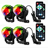 Litake Party Lights Disco Ball Strobe Light Disco Lights, 7 Colors Sound Activated with Remote Control Dj Lights Stage Light for Festival Bar Club Party Wedding Show Home-4 Pack (Color: Rgb (Red, Green, Blue), Tamaño: Disco Ball-4 Pack)
