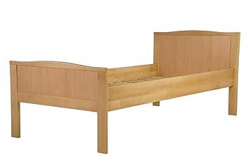 Seniorenbett extra hoch Buchebett natur massiv 90x200 Einzelbett Futonbett Rollrost 60.70-09