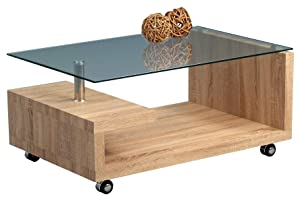 HomeTrends4You 206942 Coffee Table 90 x 43 x 60 cm Sonoma Oak Finish       reviews and more information
