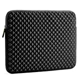 Laptop Sleeve, Evecase 15~15.6 inch Diamond Foam Splash & Shock Resistant Neoprene Universal Sleeve Zipper Case Bag for ASUS ACER HP LENOVO DELL TOSHIBA SAMSUNG Chromebook Ultrabook Notebook - Black (Color: Black, Tamaño: 15 - 15.6 inch)
