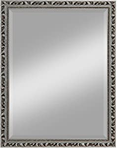 KristallForm 65030179 Holzrahmenspiegel Palermo 70 x 90 cm, silber mit Facettenschliff    Kritiken und weitere Infos