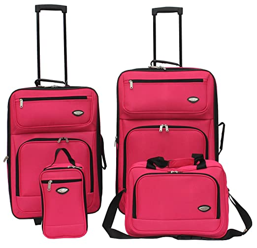 Hercules Jetlite 4-pc. Pink Upright Luggage Set
