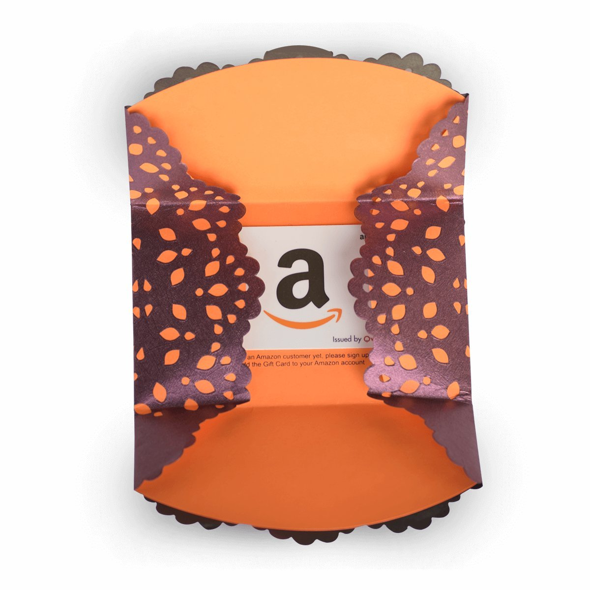 Amazon Gift Card Laser-cut Envelope Plum Purple