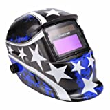 Coocheer Auto Darkening Welding Helmet With Solar Powered Adjustable MIG TIG ARC Professional Welding Mask(Devil) (Star) (Color: star)