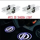CNAutoLicht 4X Cree LED Door Step Courtesy Light Welcome Light Laser Shadow Logo Projector Lamp For Nissan Armada Maxima 04-17 Quest 04-16 Titan 03-16 Altima Coupe 08-13 Altima Sedan 02-15
