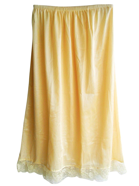 Damen Nylon Halbrock Elfenbein SANIV Ivory Petticoats lingerie Half Slip Ladies