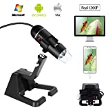 NewXY USB microscope, Digital microscope with foldable stand,Real 2MP Sensor 25X to 600X 8 LED USB Digital Handheld microscope,Compatible with Windows xp/vista/7/8/10 Android Mac Linux (Color: Max 1600x1200 pixel)