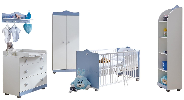 TICAA Babyzimmer 'Prinz' 5-teilig Blau