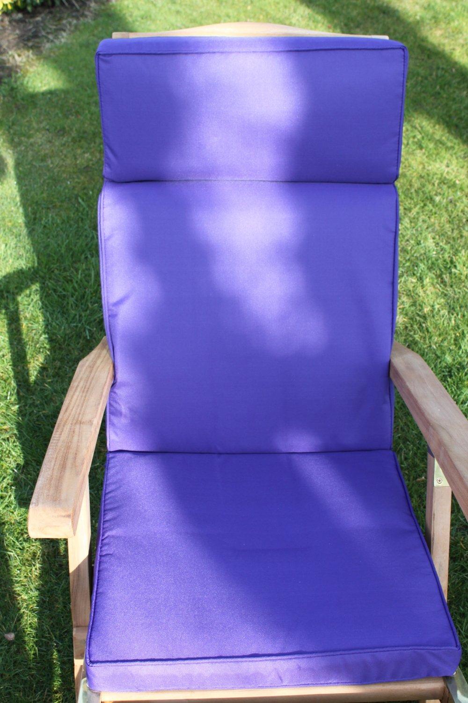 Gartenmöbel-Auflage – Liegenauflage für Gartenstuhl aus Kunststoff in Violett online bestellen