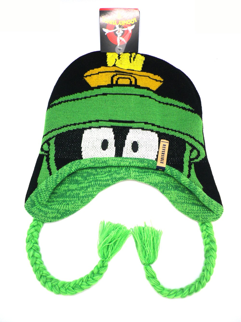 Reversable Marvin the Martian Peruvian Beanie winter costume hat