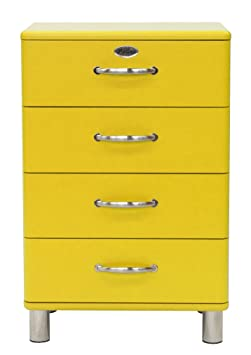 Tenzo 5116-002 Malibu - Designer Kommode 92 x 60 x 41 cm, MDF lackiert, gelb