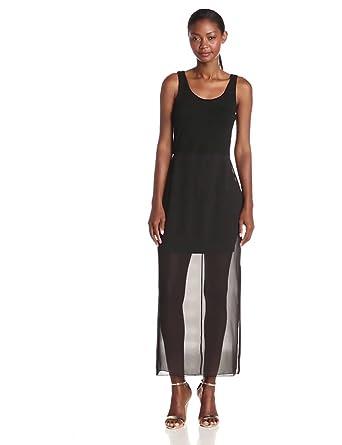 Vince Camuto Women's Chiffon Tank Dress, Rich Black, X-Small