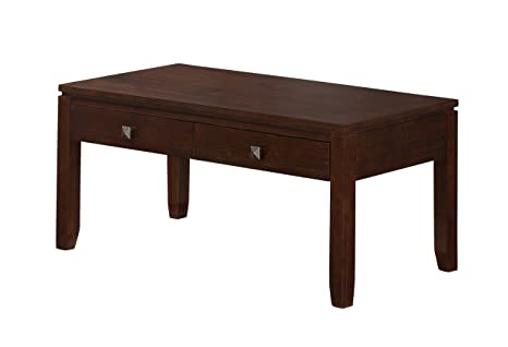 Simpli Home Cosmopolitan Coffee Table, Coffee Brown